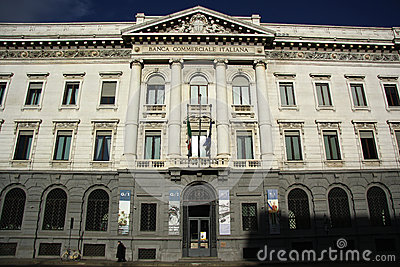 Banca Commerciale Italiana in Milan, Italy Editorial Image