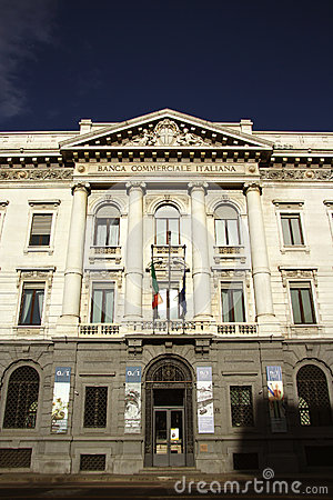 Banca Commerciale Italiana in Milan, Italy Editorial Stock Photo
