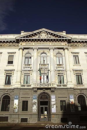 Banca Commerciale Italiana in Milan, Italy Editorial Stock Photo