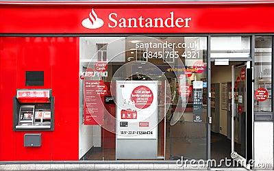 Banca del gruppo di Santander Immagine Stock Editoriale
