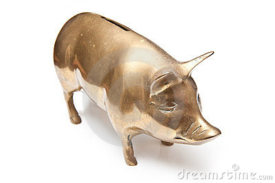 Banca piggy dell oro
