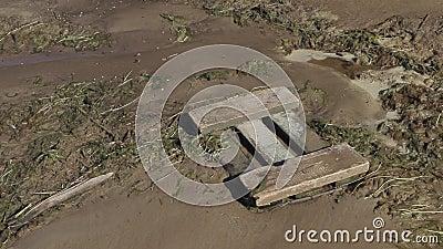 Banco de rio poluído Disastre ecol?gico vídeos de arquivo