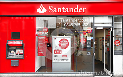 Banco do grupo de Santander Imagem de Stock Editorial