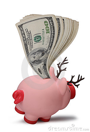 Banco piggy das economias do Natal