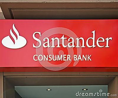 Banco Santander Editorial Image
