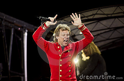 Band Bon Jovi performs a concert Editorial Photography