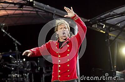Band Bon Jovi performs a concert Editorial Photo