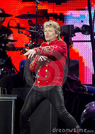 Band Bon Jovi performs a concert Editorial Photo