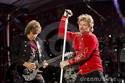 Band Bon Jovi performs a concert Editorial Image