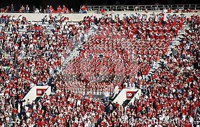 Band in de Tribunes Redactionele Stock Foto