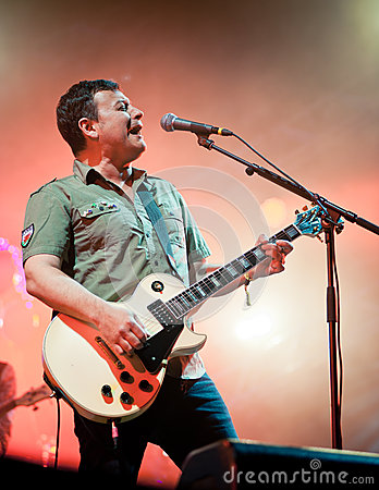Band Manic Street Preachers plays at the festival Editorial Photography
