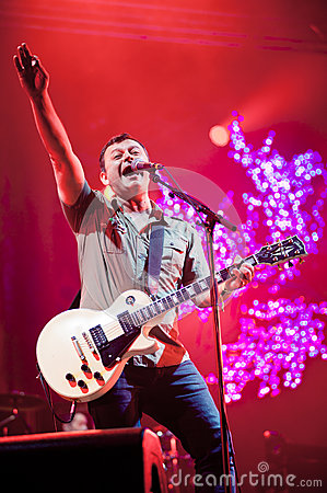 Band Manic Street Preachers plays at the festival Editorial Stock Image