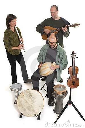 Free Band Playing Celtic Music Royalty Free Stock Photography - 2467437