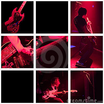 Free Band Plays Live - Grid Stock Images - 642614