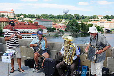 Band in Prague Editorial Stock Photo