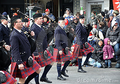 Band in the Santa Parade Editorial Stock Image