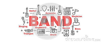 Band vector banner Vector Illustration