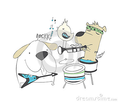 Banda de rock de los perritos