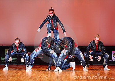 Banda force group dance Editorial Image