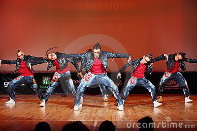 Banda force team dance Editorial Stock Image