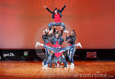 Banda force team dance Editorial Stock Image