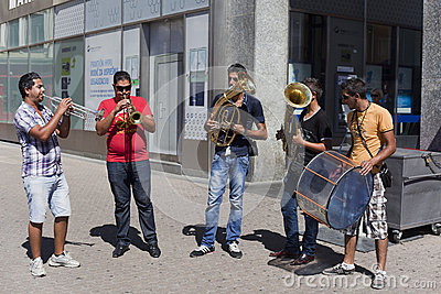 Banda zingaresca Fotografia Editoriale