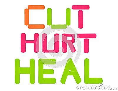 Bandaże ciący uzdrawiają skaleczenie