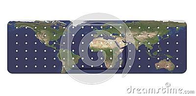 Bandage avec la carte de la terre