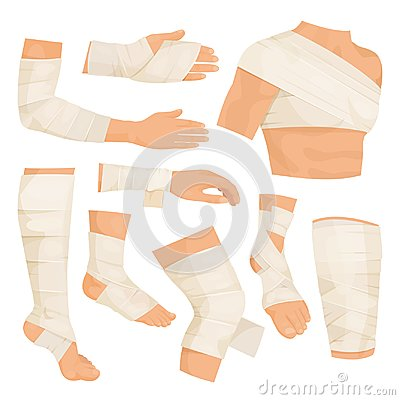 Free Bandaged Body Parts Stock Photos - 122217413