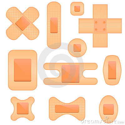 Bandaid Icon Set Royalty Free Stock Image Image 18887306