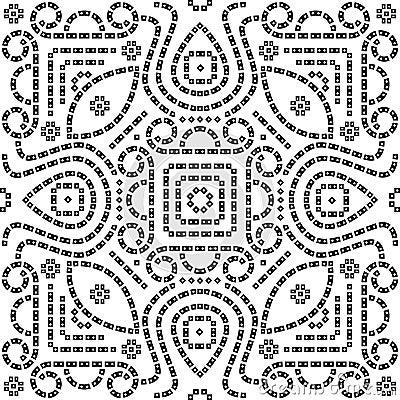 Bandana / Bandhani seamless pattern