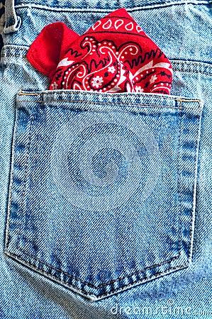Bandanna in pocket