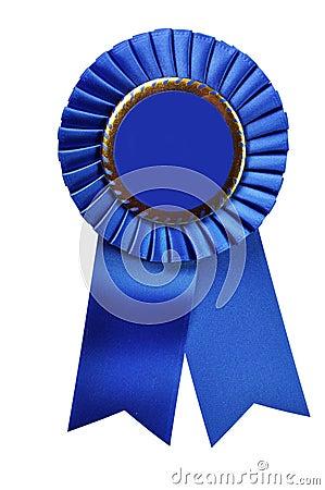 Bande bleue de chemin de découpage de récompense