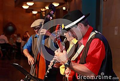 Bande de jazz Photo stock éditorial