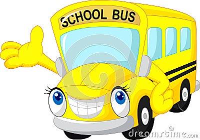 Bande dessin e d 39 autobus scolaire illustration de vecteur - Autobus scolaire dessin ...
