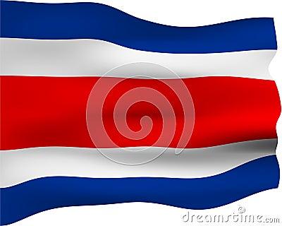 Bandeira 3D de Costa-Rica