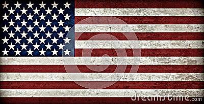 Bandeira americana rústica