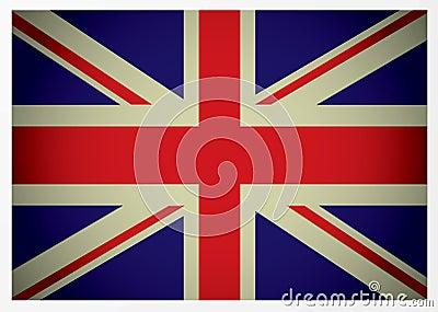 Bandeira britânica envelhecida