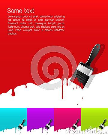 Bandeira com pintura do gotejamento