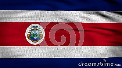 Bandeira 3d de Costa Rica rendida ilustração stock