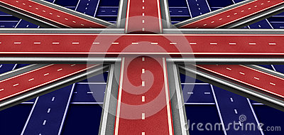 Bandeira da estrada de Grâ Bretanha