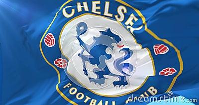 92b9b1f03b78c Bandeira De Chelsea Football Club Que Acena No Vento