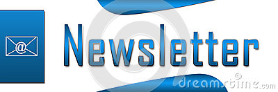 Bandeira do azul do boletim de notícias