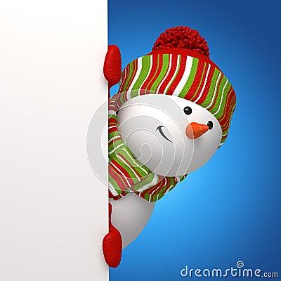 Bandeira do boneco de neve