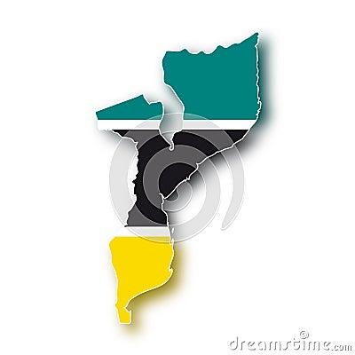 Bandeira Mozambique do vetor