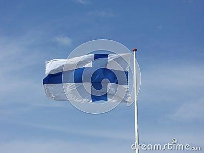 Bandeira nacional finlandesa