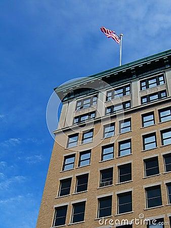 Bandeira no edifício