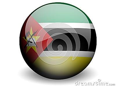 Bandeira redonda de Mozambique