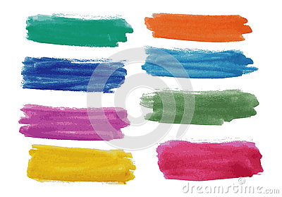 Bandeiras da aguarela ajustadas
