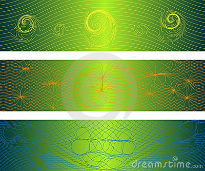Bandeiras distorcidas das ondas